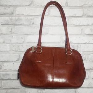 Vintage leather HOBO sachel shoulder purse bag